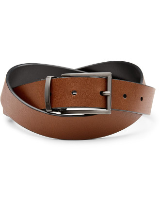 Delany Reversible Leather Pin Buckle Belt