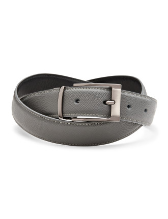 Jayme Reversible Leather Pin Buckle Belt