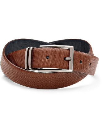 Xaviar Reversible Leather Pin Buckle Belt