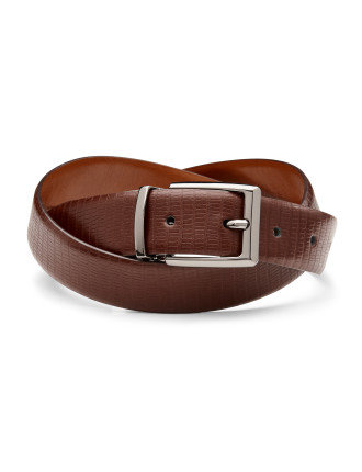 Manton Reversible Leather Pin Buckle Belt