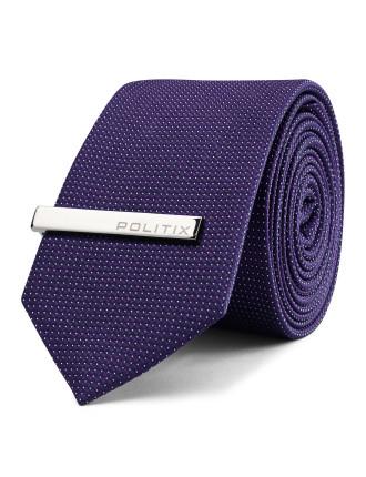 Doric Pattern Tie With Tie Bar