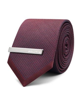 Kiaan Pattern Tie With Tie Bar