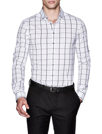 Zephan Slim Fit Check Shirt