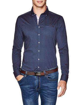 Alma Slim Fit Geoprint Shirt
