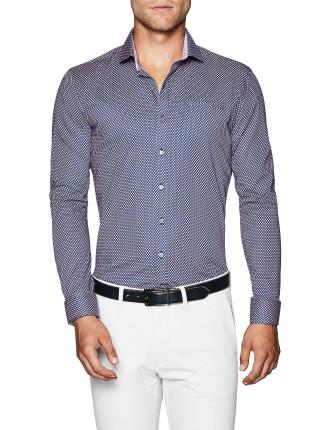 Farley Slim Fit Geoprint Shirt