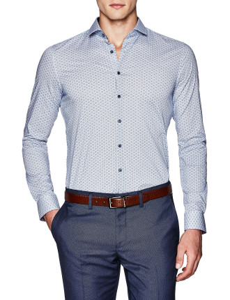 Colby Slim Fit Geoprint Shirt