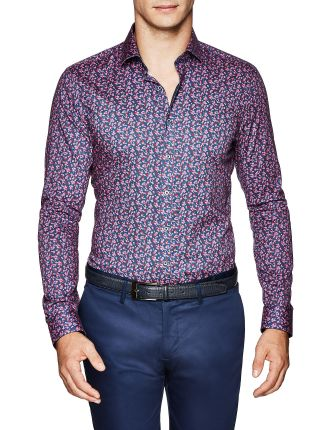Noah Slim Fit Geoprint Shirt
