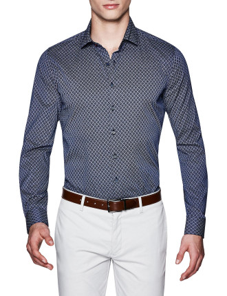 Marlow Slim Fit Geoprint Shirt
