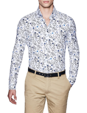 Lyndal Slim Fit Floral Shirt
