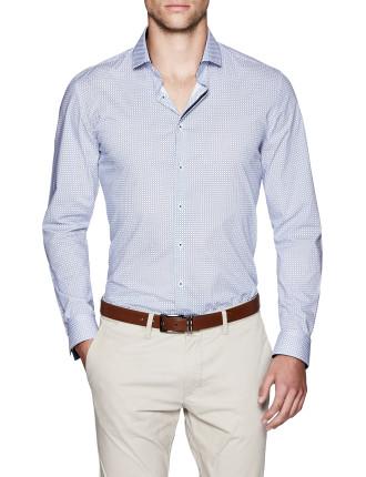 Caspar Slim Fit Geoprint Shirt