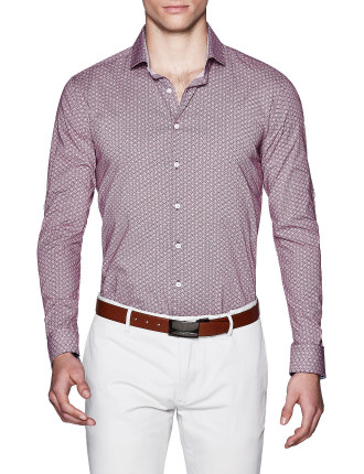 Aden Slim Fit Geoprint Shirt