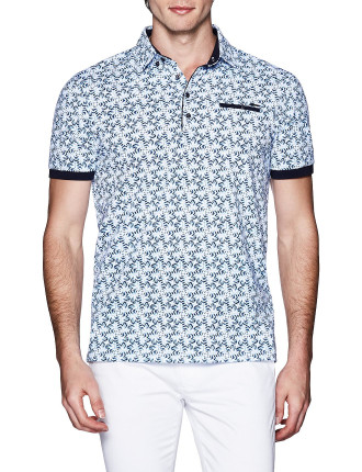 Barron Print Polo Shirt