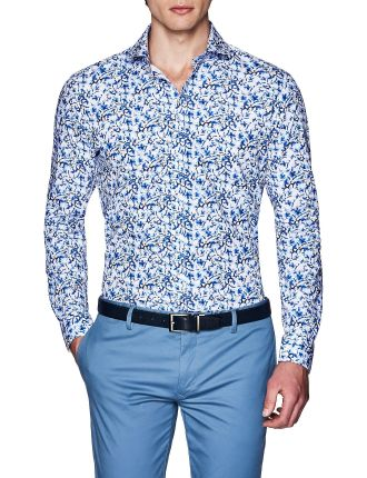 HUSTON SLIM FIT FLORAL SHIRT