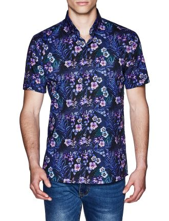 CHIP SHORT SLEEVE FLORAL SHIRT