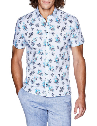 KOTY SHORT SLEEVE FLORAL SHIRT