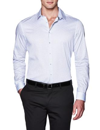 Yadon Slim Fit Geoprint Shirt