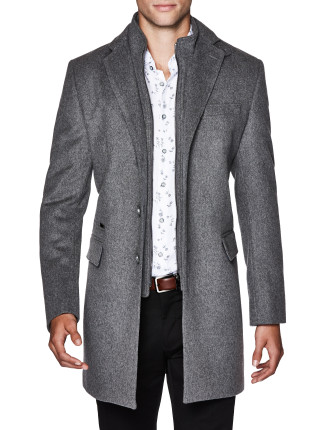 Leonell Wool Blend Trench Jacket