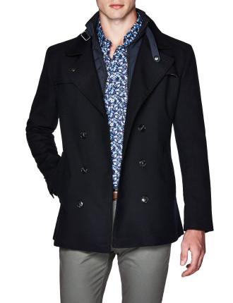 Octavian Wool Blend Pea Coat