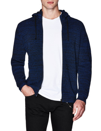 Brice Cotton Blend Zip Front Hoodie