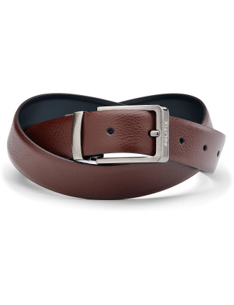 Callen Reversible Leather Pin Buckle Belt