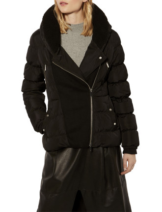 FEATHER PADDED PUFFER JACKET