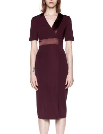 Spliced Silk Dress
