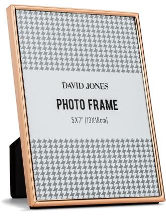 Simple' Metal Photo Frame, 5x7'/ 13 x 18 cm