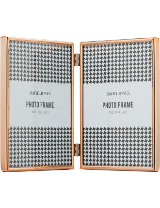 Simple' Metal Photo Frame, 2x 4 x 6'/ 10 x 15 cm