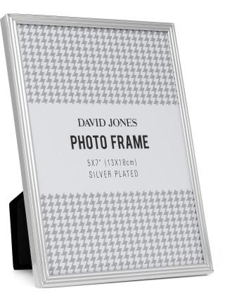 Pinstripe' Metal Photo Frame, 5x7'/ 13 x 18 cm