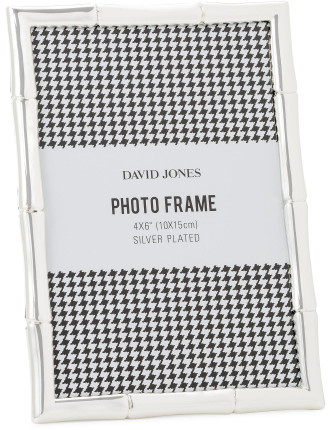 Bamboo' Metal Photo Frame, 4 x 6'/ 10 x 15 cm