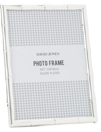Bamboo' Metal Photo Frame, 5x7'/ 13 x 18 cm