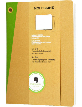 Extra Large Ruled  Evernote Set Of 2 in Kraft