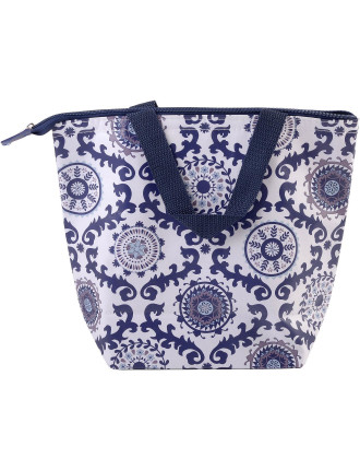 Modern Navy Insulated Lunch Tote