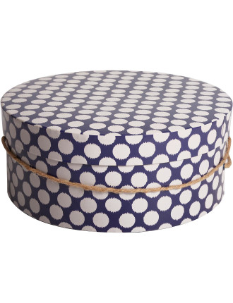 Modern Navy Hat Box Small