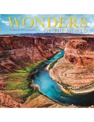 2015 Wonders Of The World Wall Calendar