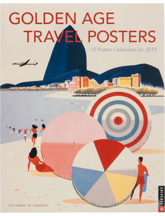 2015 Golden Age Travel Posters Boxed Posters Calendar