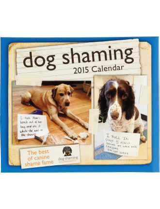 2015 Dog Shaming Dtd Calendar