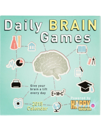 2015 Daily Brain Games Day-To-Day Calendar