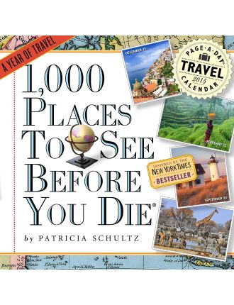 1000 Places To See Before You Die® 2015 Wall Calendar