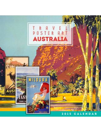 Travel Poster Art Australia 2015 Square Wall Calendar