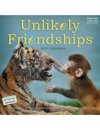 Unlikely Friendships 2015 Square Wall Calendar