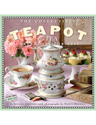 The Collectible Teapot And Tea 2015 Square Wall Calendar