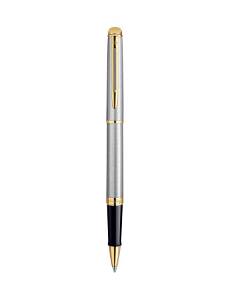 Hemisphere Rollerball Stainless Steel With Gold Trim