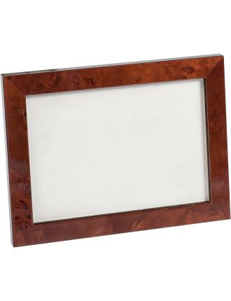 Rich Brown Veneer Photo Frame