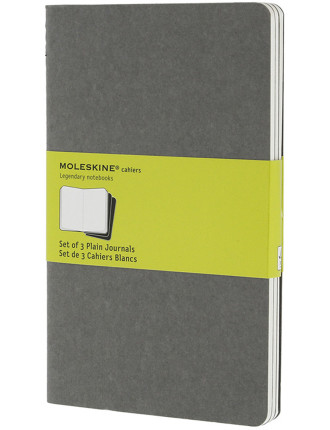 Cahier Set Of 3 Unruled Notebook Large