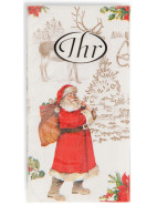 Christmas Tissues Welcome Santa $3.95