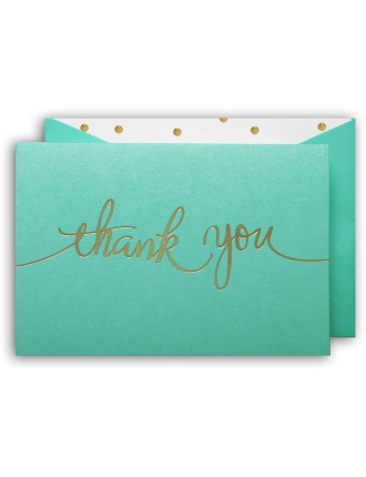 Thank You Cards With Envelopes 10 Pack