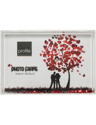 Acrylic Photo Frame Snowglobe 4 x 6' / 10 x 15cm