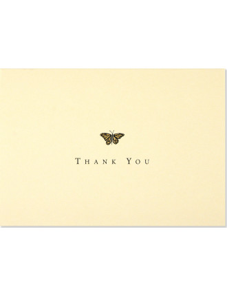 14 Pack Gold Butterfly Thankyou Cards