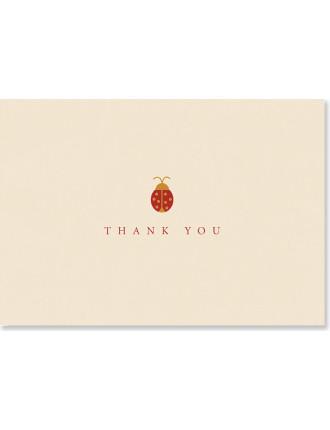 14 Pack Ladybird Thankyou Cards
